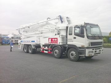 Cina 8x4 SSAB Steel ISUZU 47m Truck Mounted Concrete Pump / Delivery Equipment 390HP Distributor